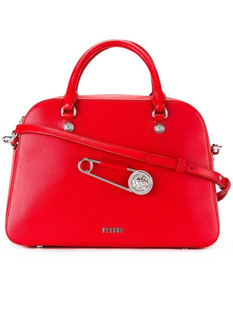 Versus oversized women leather red bag
