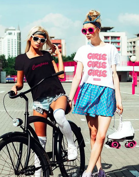 T Shirt Girl New Brand Sunglasses Compose Spring Outfits Streetstyle Shorts White Top White T Shirt Wheretoget