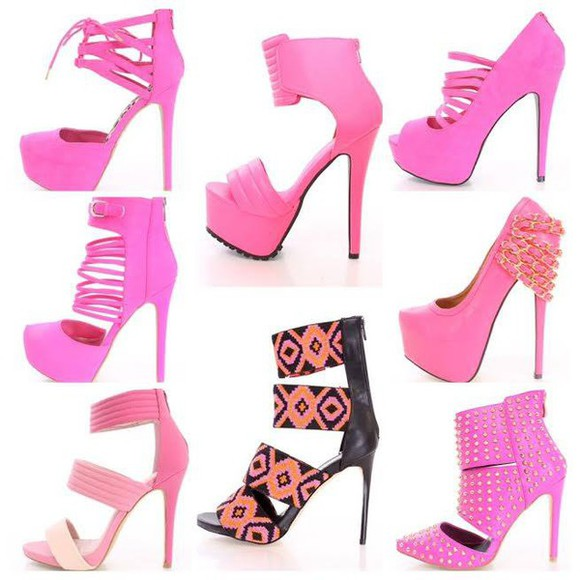 shoes pink shoes pink heels, pumps, red, shoes, high heels, pinky pumps