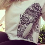 sweater,boho,bohemian,bohemian sweater,elephant,aztec,white,hippie,aztec sweater,shirt