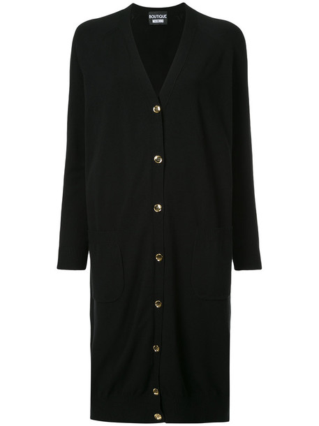 BOUTIQUE MOSCHINO cardigan cardigan long women black sweater