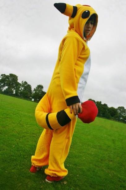 jumpsuit ampharos yellow pokemon onesie