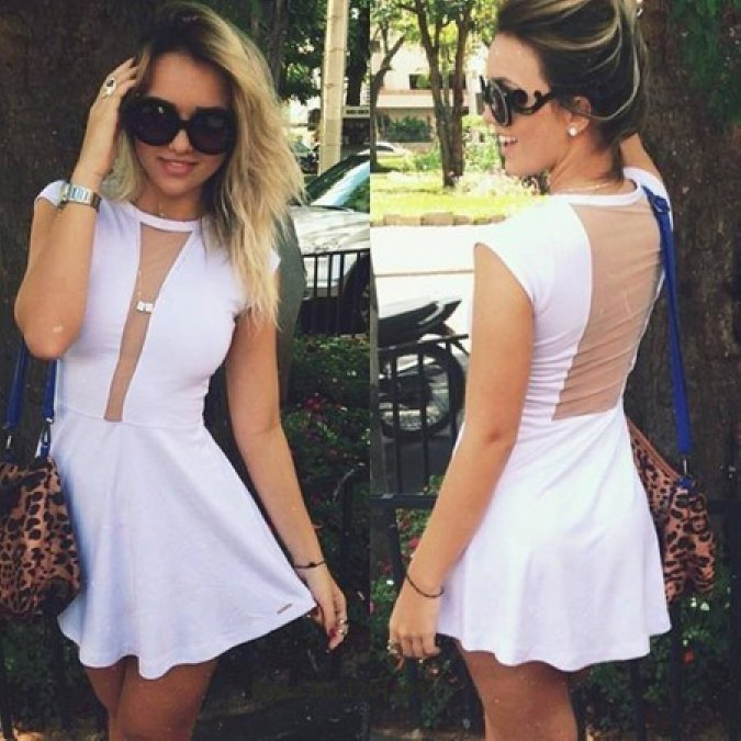 Women fashion sexy white lace round neck sleeveless evening dress ds202 · foreverfashion · online store powered by storenvy