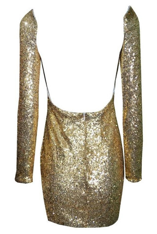 Lyn backless sequin dress