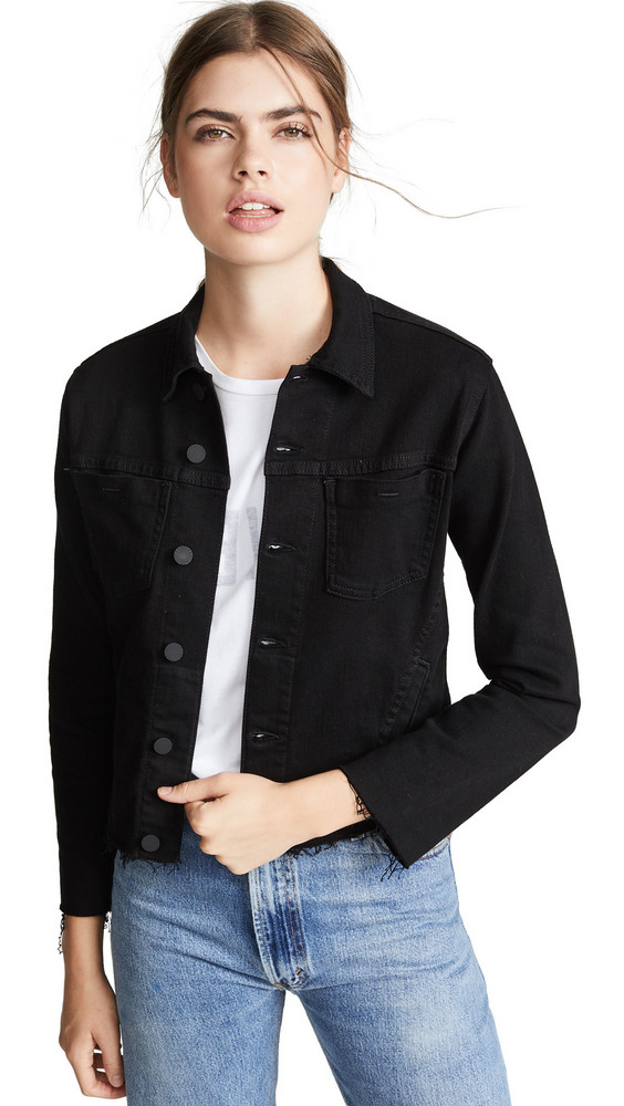 L'AGENCE Janelle Slim Raw Jacket in black