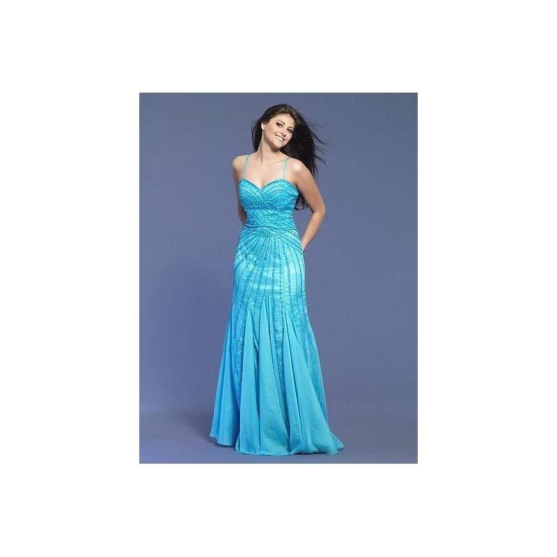 Aqua evening dress