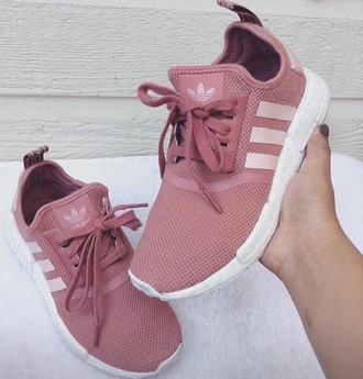 shoes pink adidas sneakers mauve