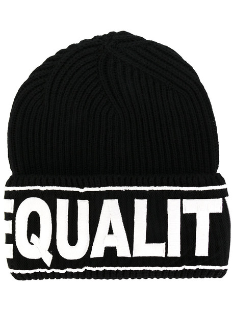 embroidered equality hat black