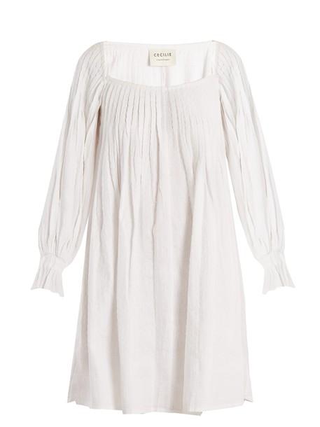 CECILIE COPENHAGEN dress cotton white