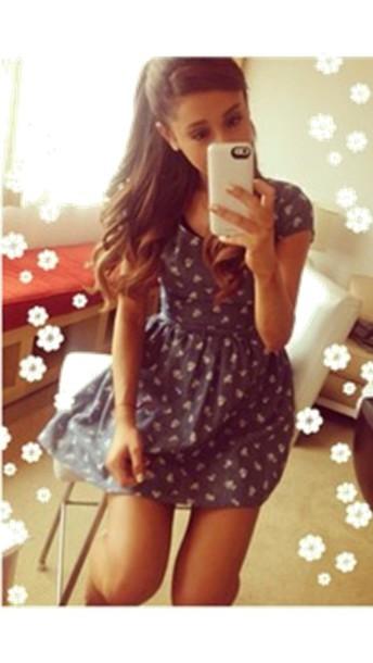 dress blue dress ariana grande