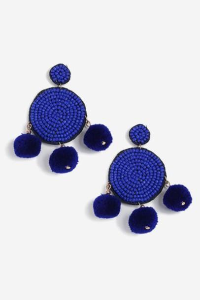 Topshop earrings blue jewels