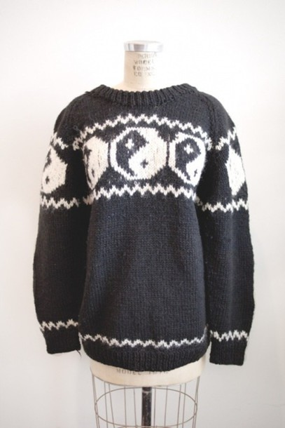 sweater yin yang sweater