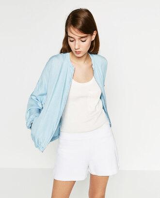 jacket bomber jacket baby blue