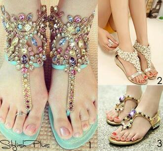 shoes sandals summer sparkle pearl beautiful
