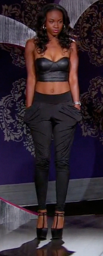 pants pockets black pants black tiana bgc11 bgc bad girls club bgasb bgasb2 bad girls all star battle