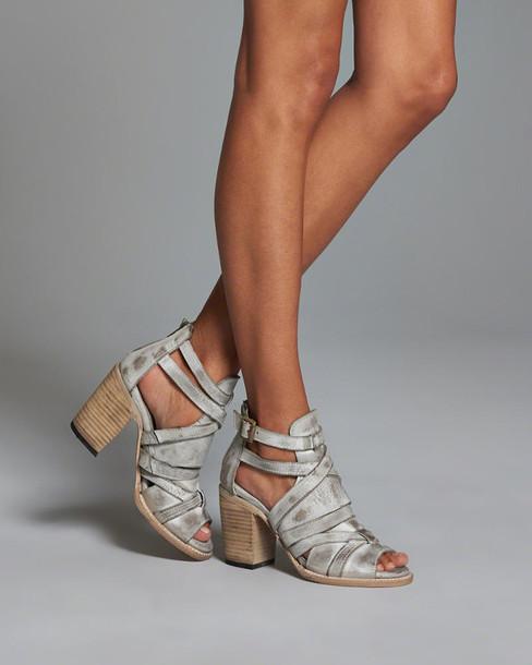 shoes heels sandals stacked wood heel