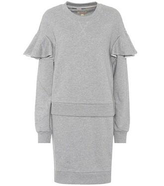 dress sweatshirt dress cotton grey