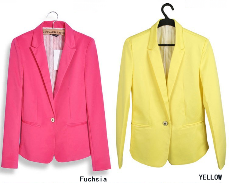 Foldable sleeves one button vogue blazer