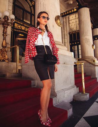 lovely pepa blogger jacket bag shoes shirt sunglasses