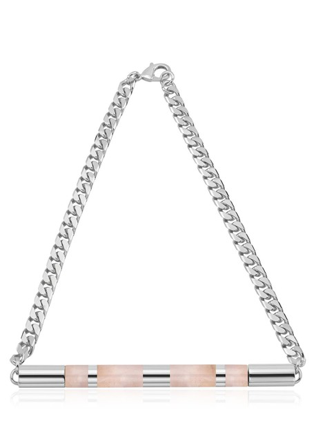 VITA FEDE Cylinder Stone Necklace in silver