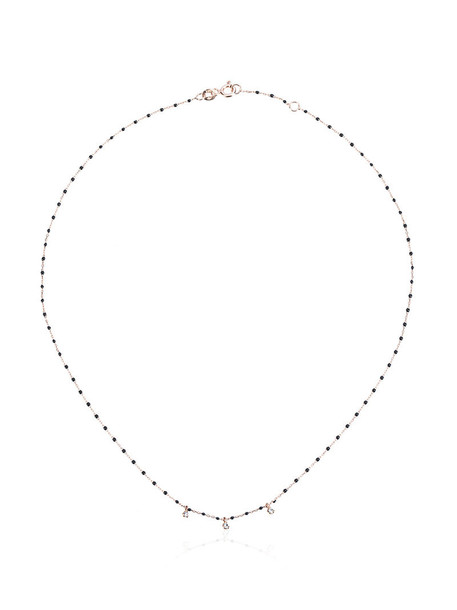 Gigi Clozeau rose gold rose women beaded necklace gold grey metallic jewels
