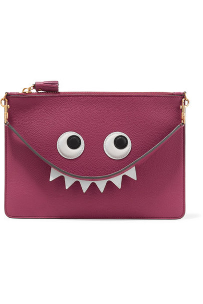 Anya Hindmarch eyes pouch leather plum bag