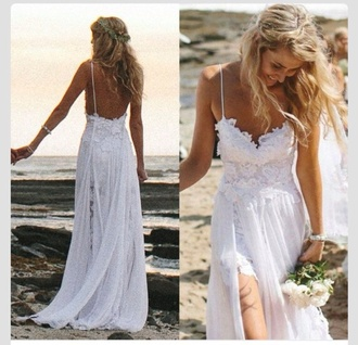 wedding dress beach wedding short dress long train dress