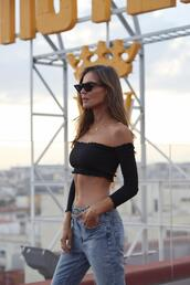 lady addict,blogger,jeans,top