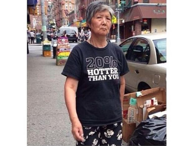 t-shirt black 20% hotter than you