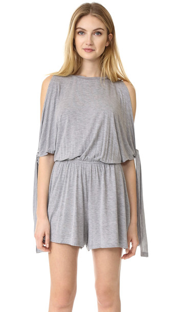 The Fifth Label From This Moment Romper - Grey Marle