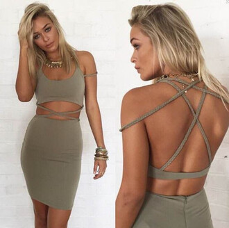 dress cut-out dress strappy strappy dress cut-out dreamclosetcouture