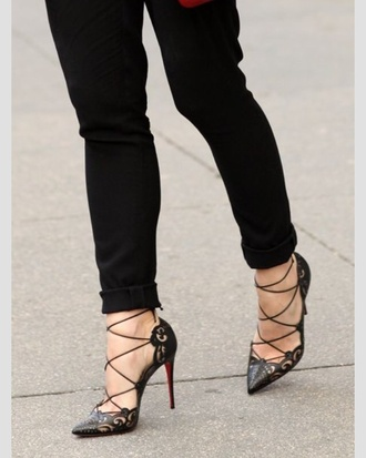 shoes heels black