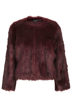Soft Faux Fur Cropped Jacket - Jackets & Coats  - Clothing  - Topshop