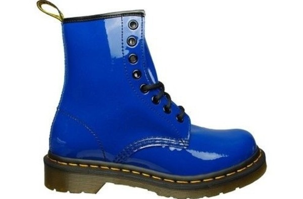 shoes blue DrMartens boots