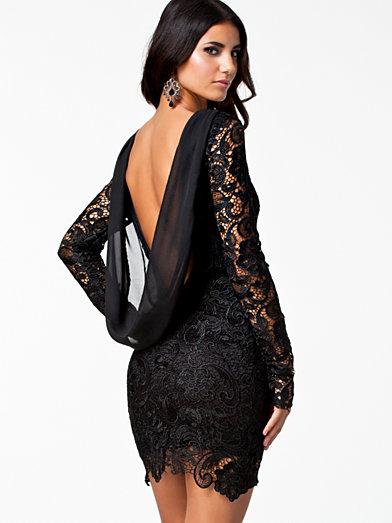 Lacey Dress - Nly Eve - Schwarz - Partykleider - Kleidung - Frau - Nelly.de Mode Online