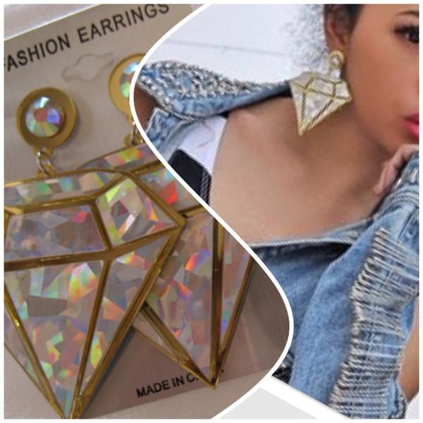 jewels earrings diamonds diamond print