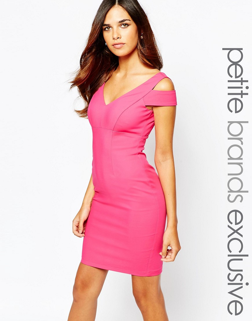 Paper Dolls Petite Bodycon Dress With Cold Shoulder at asos.com