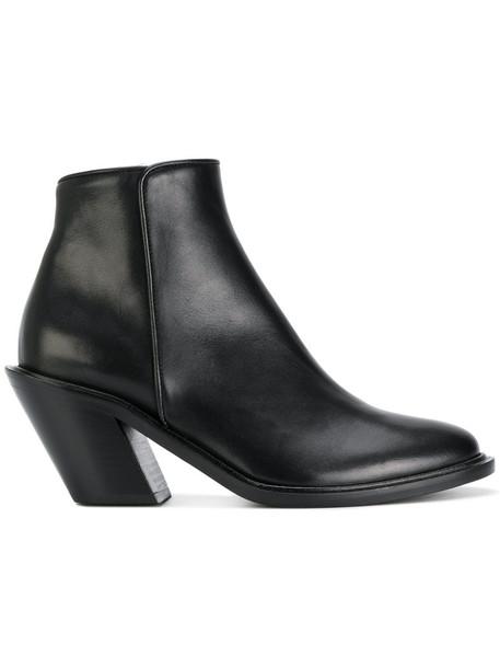 A.F.VANDEVORST heel women ankle boots leather black shoes