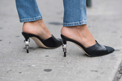 shoes,black mules,chanel mules,tumblr,mules,black shoes,chanel,chanel shoes