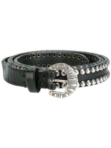 studded belt black