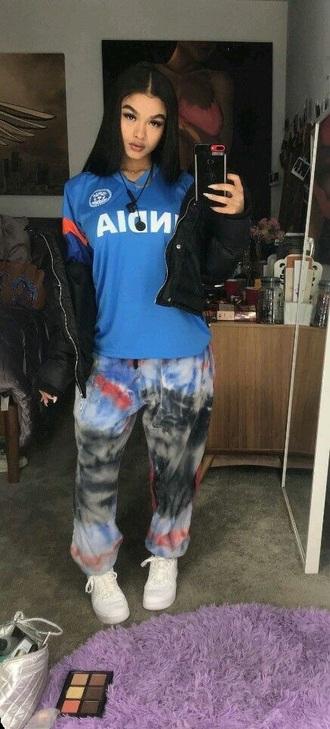 jeans graffiti never sleeps india westbrooks dope dope wishlist red blue white black nike nike shoes nike air force 1