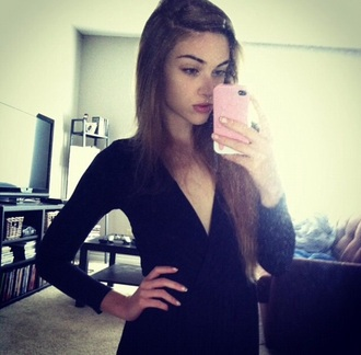 shirt dress boobs russian dutch english black dress lovely instagram ig model twitter black top ❤️ happy mirror selfie us america canada style spring fall outfits japan pretty face skinny women girl iphone european aussies australian little black dress twitter black sleeveless dress black shirt korean fashion korean dress korean style bodycon dress bodysuit tight
