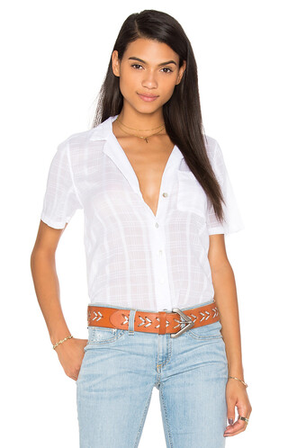 top plaid short white