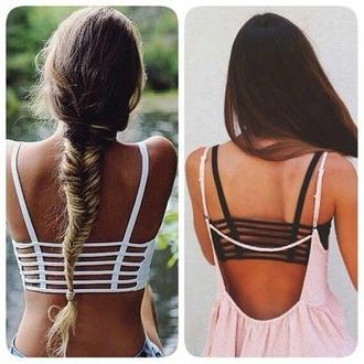 tank top bra striped bra