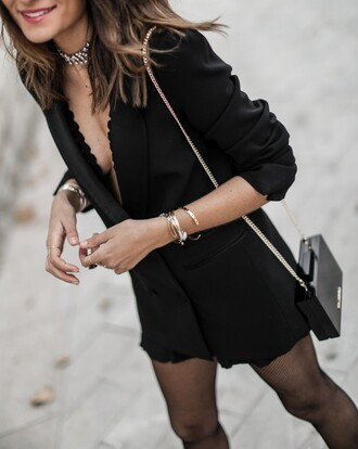 jewels jewelry gold bracelet gold jewelry accessories accessory bag black bag blazer black blazer chain bag