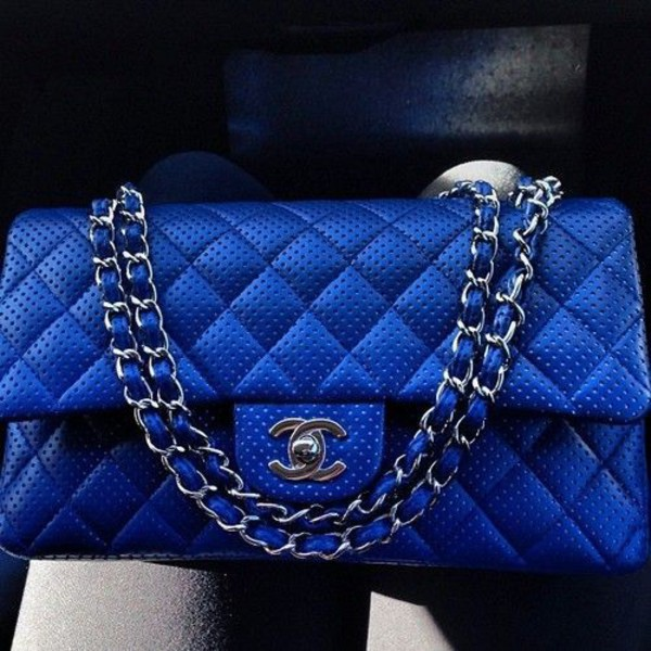 f6af3bb56c5912 Chanel Electric Blue Quilted Velvet Large Classic 2.55 Double Flap ...