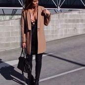 coat,divergence clothing,camel jacket,long coat,tan coat,brown jacket,kim kardashian style,camel coat