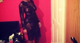 dress black dress black mesh dress midi dress