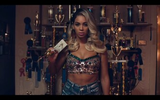 pretty crop tops diamonds sexy beyonce blonde hair embellished bralette top embellished top