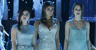 pll ice ball pretty little liars aria montgomery spencer hastings emily fields prom dress